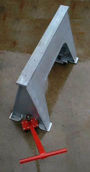 wheel attachment for industrial sawhorse